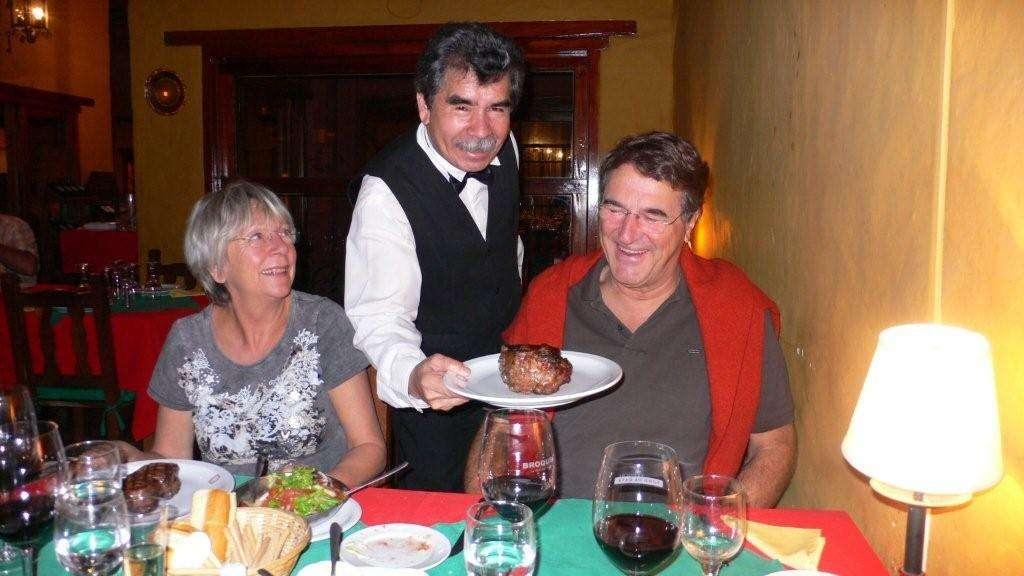 Das erste argentinische Steak