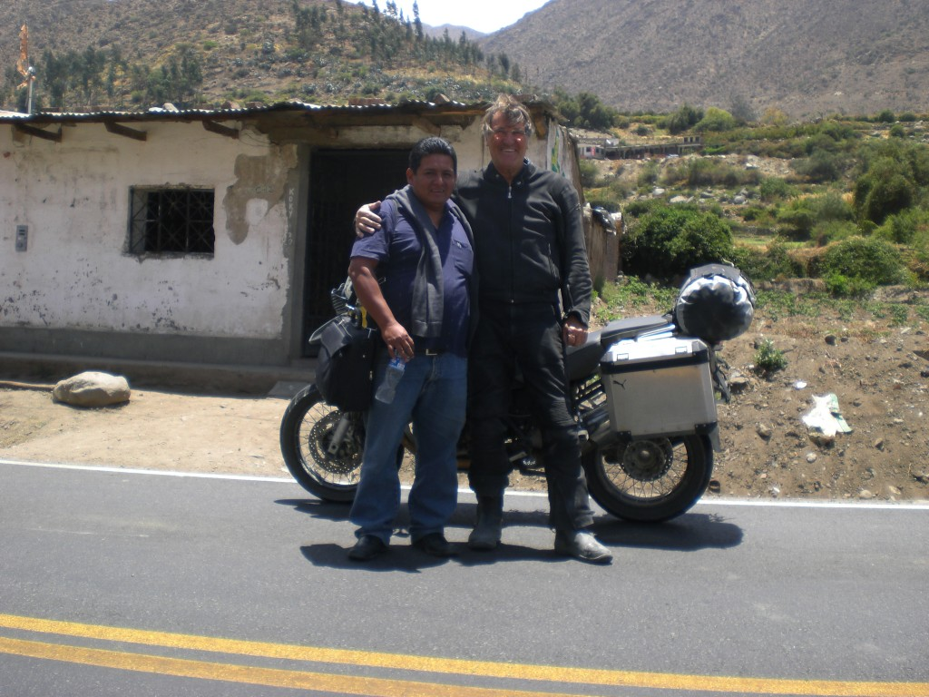 Con mi amigo peruano
