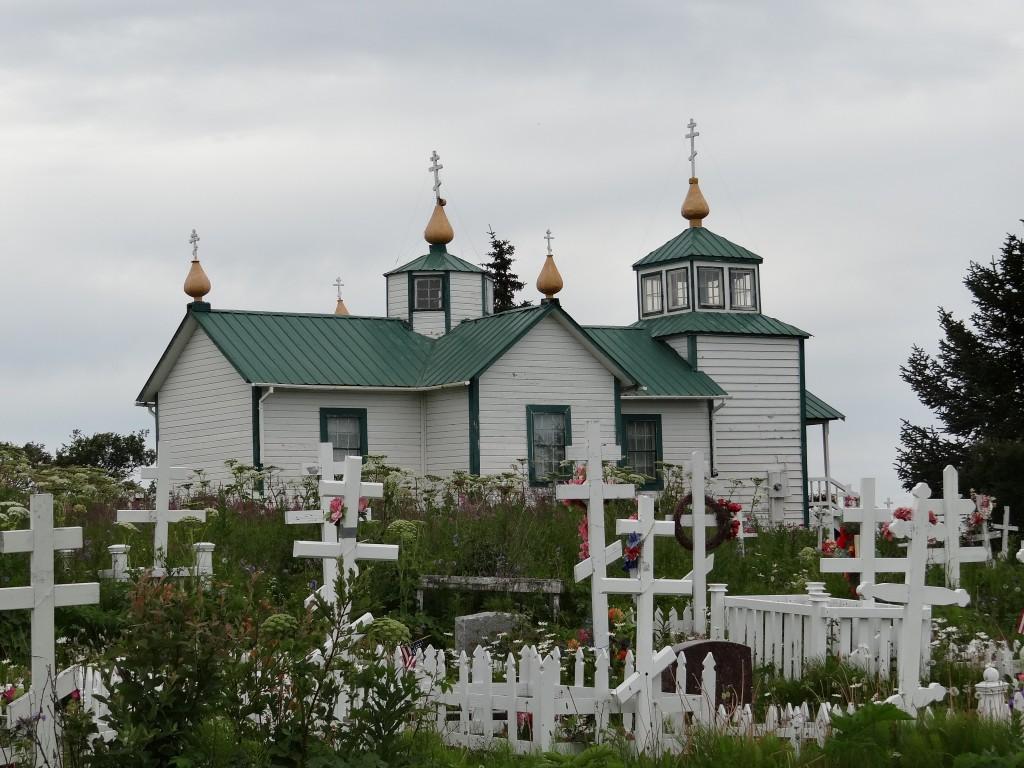 russisch orthodoxe Kirche in Ninilchik auf dem Weg nach Homer