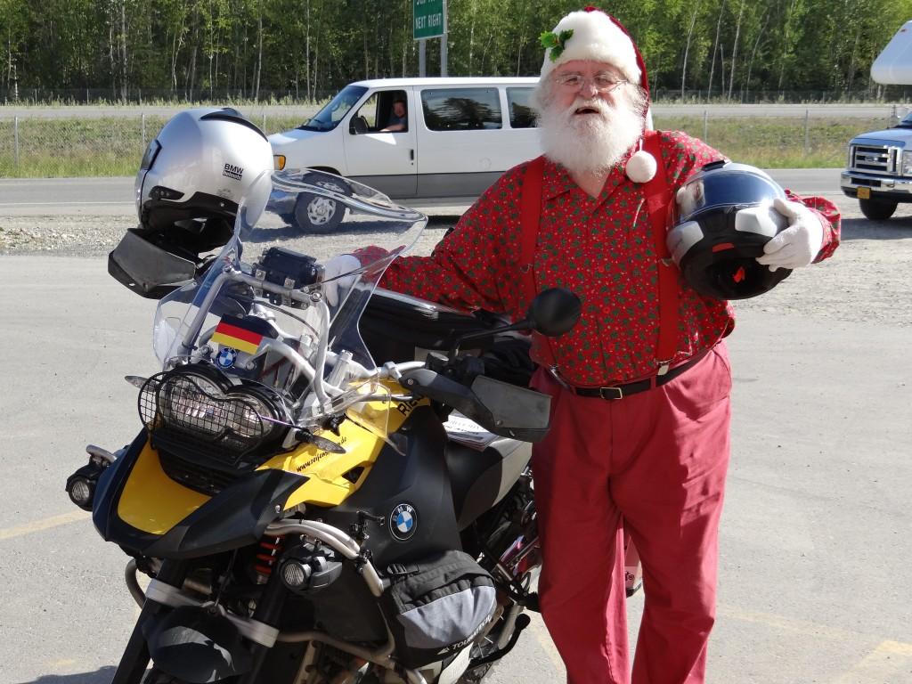Santa wollte sein Reindeer gegen das Moto tauschen!