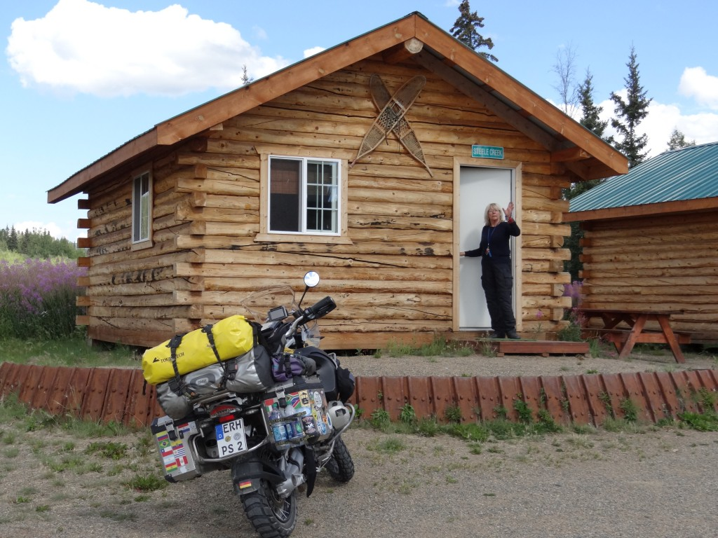 unsere Cabin: ohne Wasser, ohne Strom