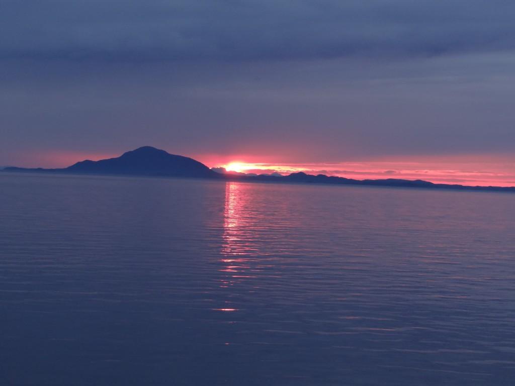 Sonnenuntergang auf der Inside Passage