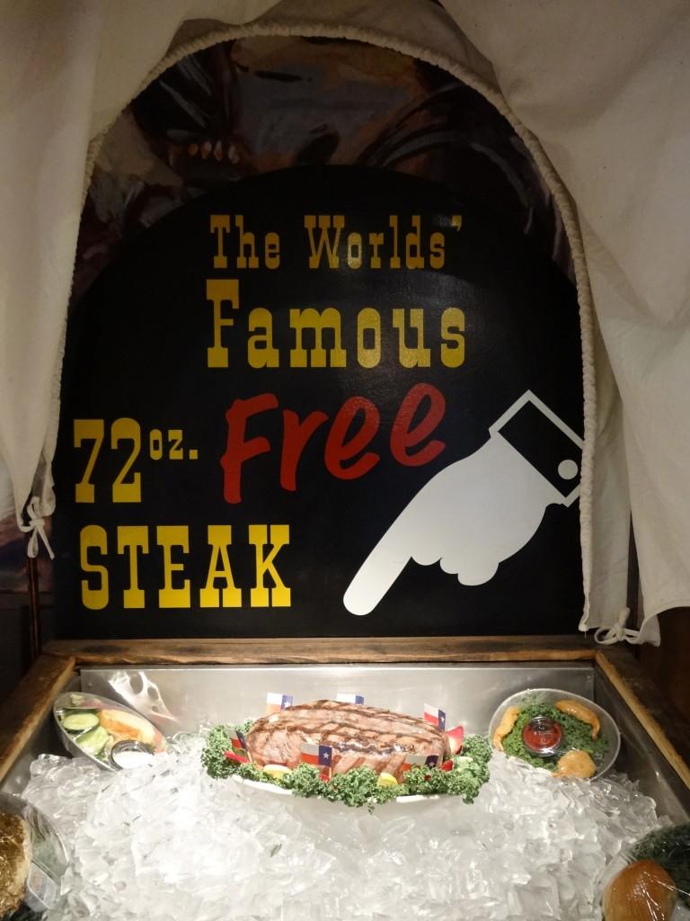 das berühmte 72 oz Steak
