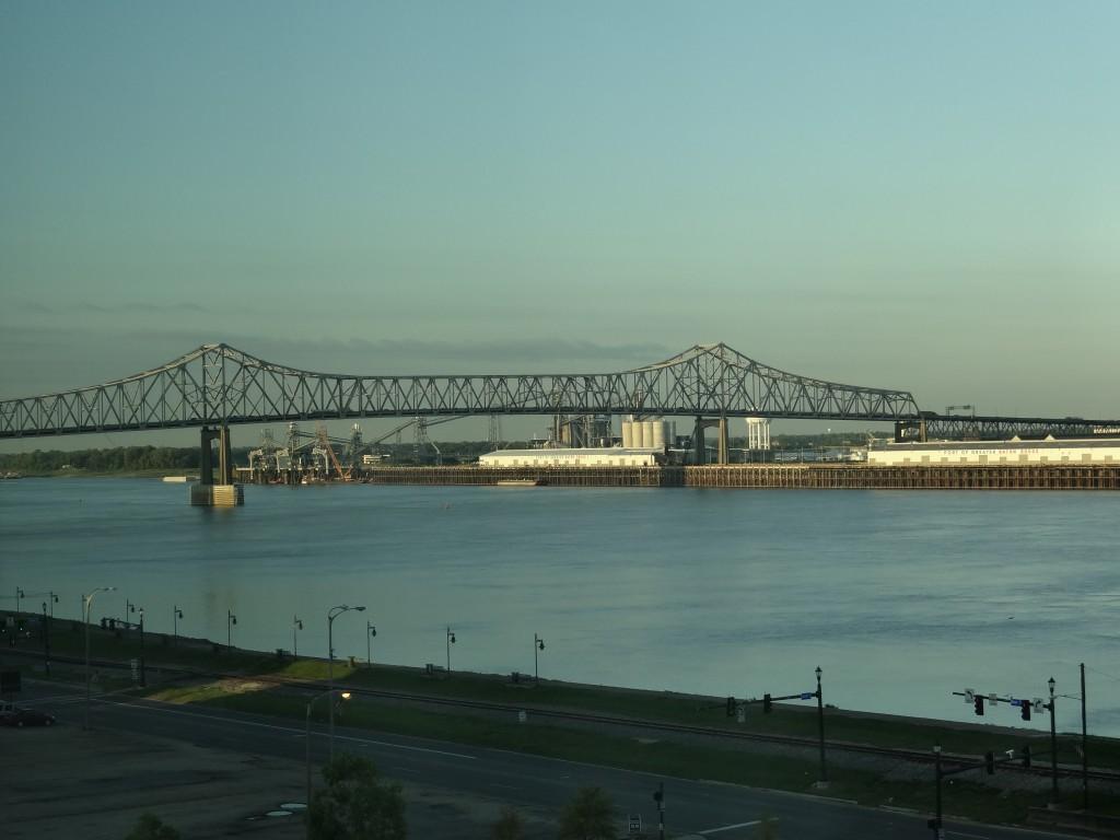 Blick vom Balkon auf den Mississippi