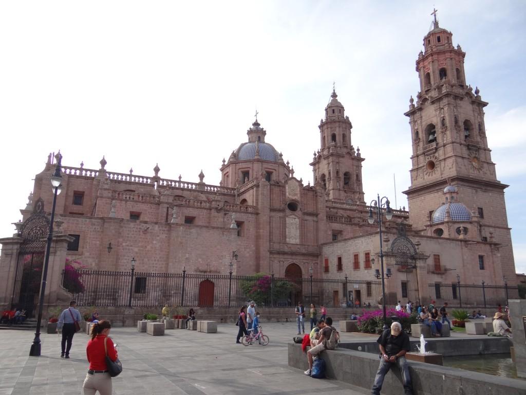 Seitenansicht der Kathedrale deren Bau 1744 vollendet wurde