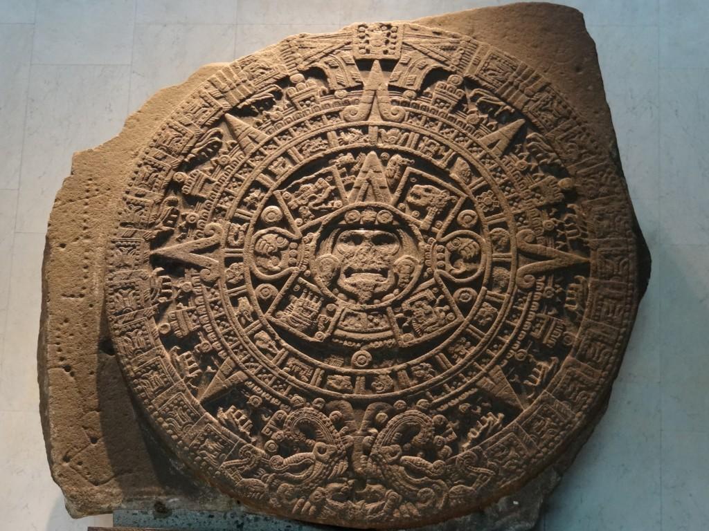 """""""Piedra del Sol"""" der Azteken, oft fälschlicherweise als Maya-Kalender bezeichnet"""