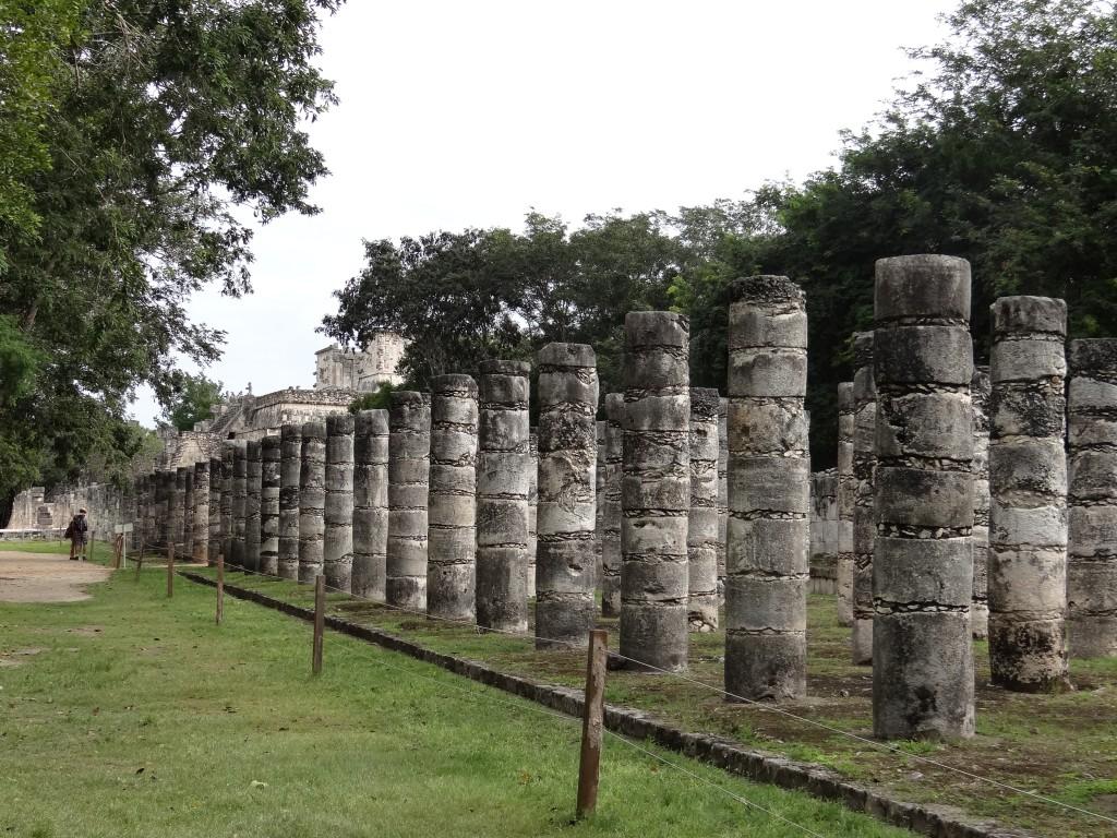 Säulen die das Dach der Markthalle trugen
