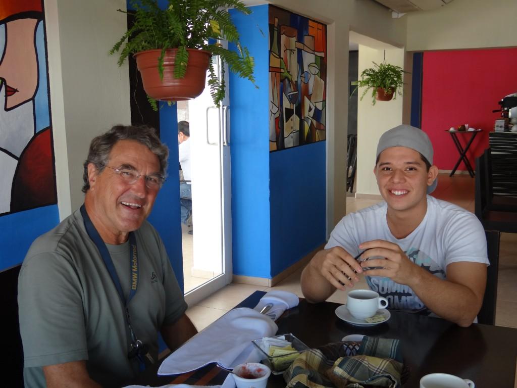 gemeinsames Frühstück mit Angelo…...