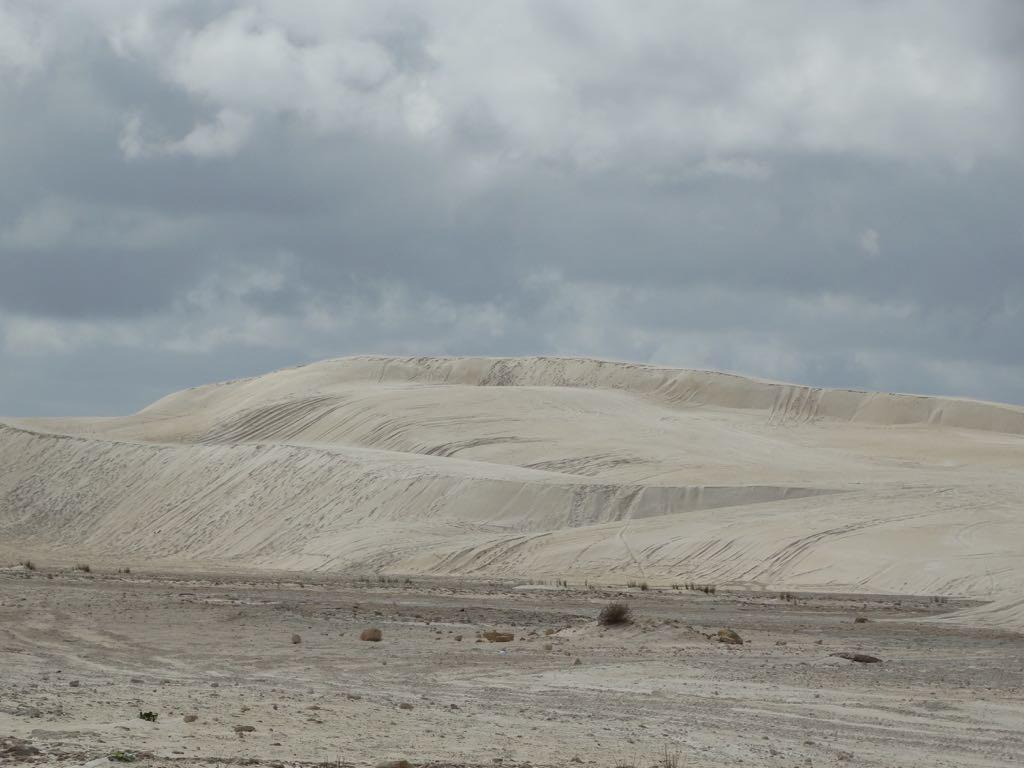 die weißen Dünen von Lanolin