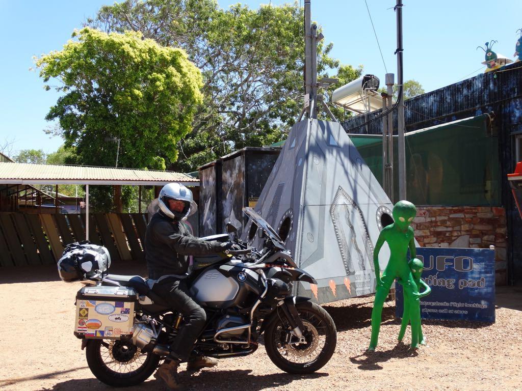 Nach Angaben des Road House Besitzers sollen hier gelegentlich UFOs landen