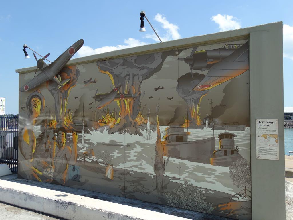 Erinnerung an die Bombardierung Darwins