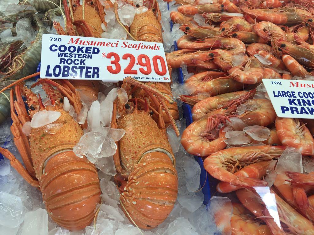... oder zum Fishmarket fahren, einen Lobster aussuchen....
